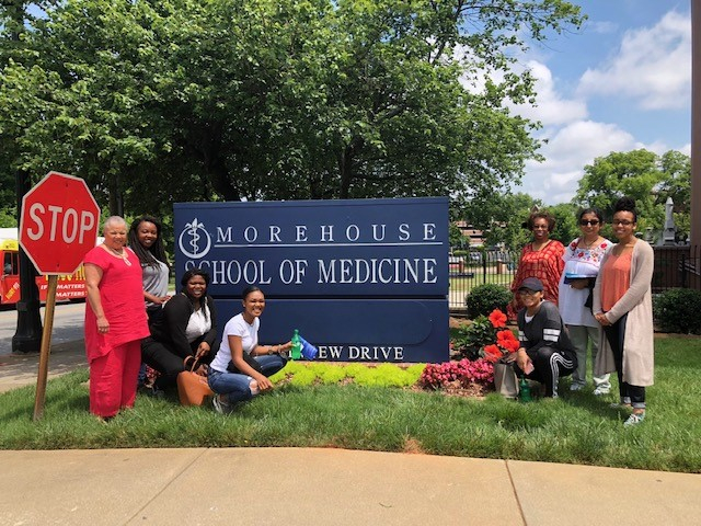 RISE Scholars and their mentors visit the Medical School at Morehouse  College.